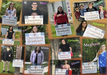 Collage of chemistry graduates, class of 2020