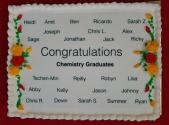Chemistry Graduation Celebration Cake