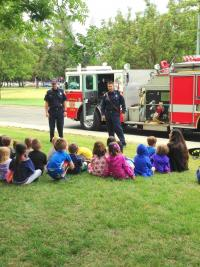 children and firefighters