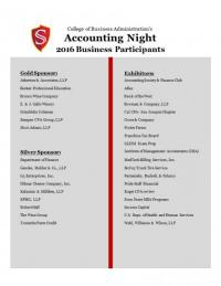 Accounting Night 2016 participants
