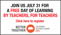 Join Us July 31 for a free day of learning by teachers, for teachers