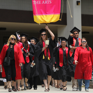 Marshals at commencement walk