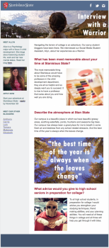 Brand in action, Student Life Newsletter