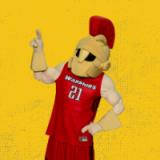Titus Mascot points left.