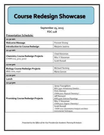 Course Redesign Showcase