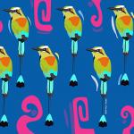 Birds painted by Jazz Diaz