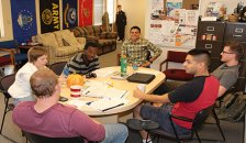 Veteran Student Services group meeting around a table