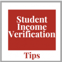 Student income verification tips