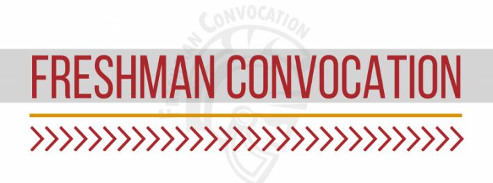Freshman Convocation Banner