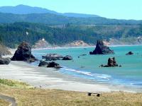 Beach at Battle Rock Historical Site, Port Orford, Oregon Coast