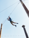 Marty on a zip line