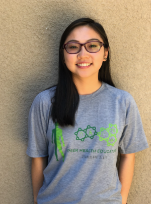 This is a photo of our Peer Health Educator, Annie Nguyen