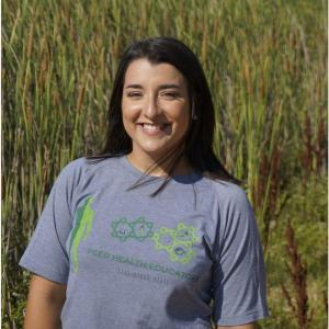 This is a photo of our Peer Health Educator, Diana Cardenas