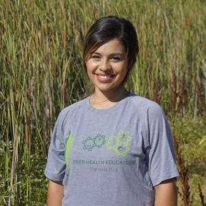 This is a photo of our Peer Health Educator, Selene Millan