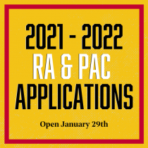 2021 - 2022 RA & PAC Applications open January 29th