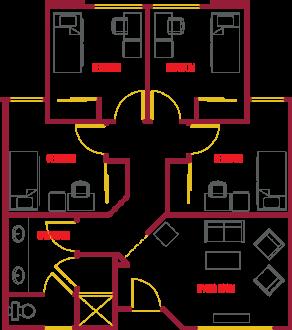 Single Suite Floor Plan