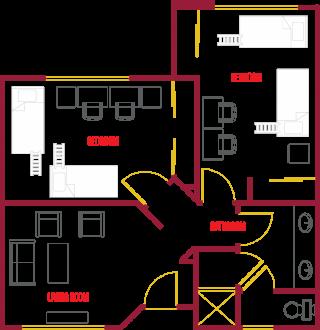 Triple Suite Floor Plan