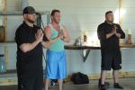 men doing yoga