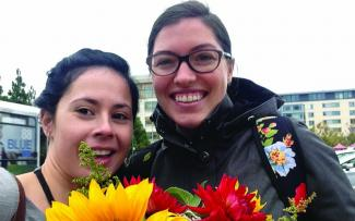 Students at San Francisco Farmers Market