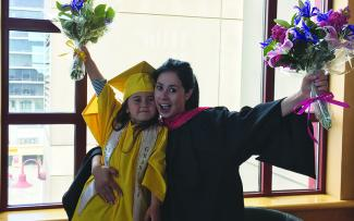 Student and Daughter graduates