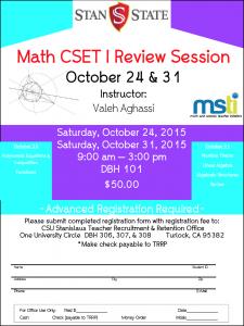 Math CSET 1 Review