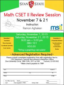 Math CSET 2 Review