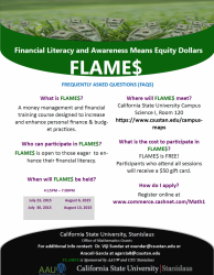FLAMES - Financial Literacy and Awareness Means Equity Dollars
