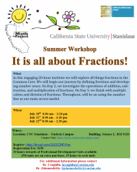 It's all about fractions flyer