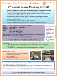 Lesson Planning Retreat flyer