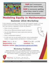 Modeling Equity in Mathematics flyer