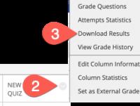 Download Blackboard test results
