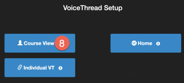 VoiceThread setup page