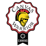 Canvas Warrior Badge 2020
