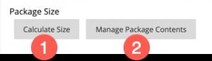 Blackboard Package size tools