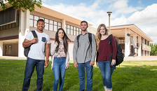 students out on campus