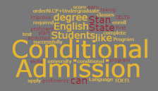 conditional Admission