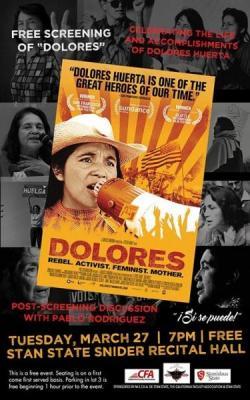 Dolores Huerta Visit Poster