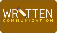 written communication button