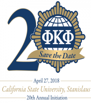 April 27, 2018. 20th Annual Initiation