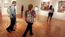 Art show at the University Art Gallery