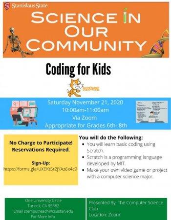 Coding for kids flyer