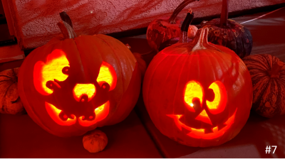 Lisa Medina – Goofy Face and Many Eyes Pumpkins
