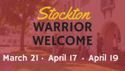 Stockton Warrior Welcome. March 21. April 17. April 19. Learn more and register