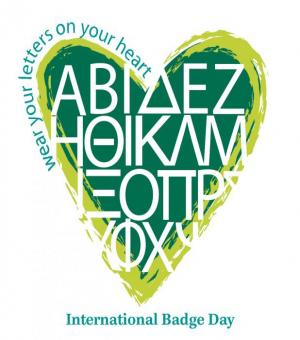 Wear your letters on your heart - International Badge Day