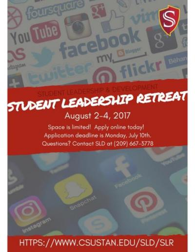 Student Leadership Retreat Flyer