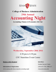 Accounting night flyer