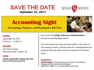 Save the date Accounting Night