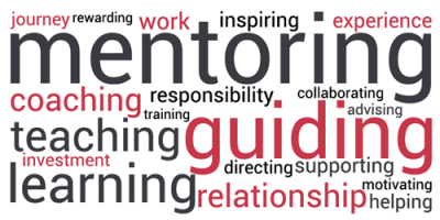 mentoring, guiding, teaching