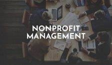 nonprofit management button