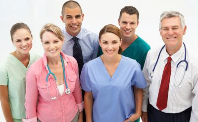 Group of people who work in the health care industry